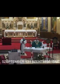 2020. szeptember 13. – Évközi 24. vasárnap