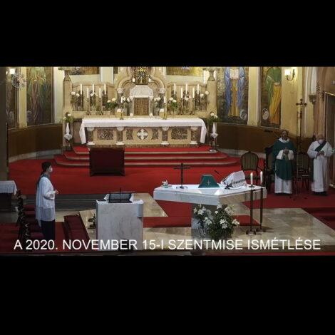 2020. november 15. – Évközi 33. vasárnap