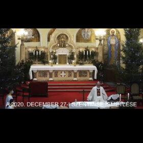2020. december 27. – Szent család